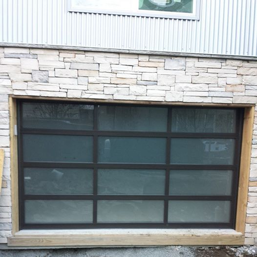 Alumium Frame Frosted Glass Panel Garage Door   Residential Modern Door